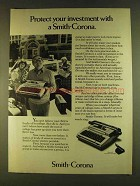 1980 Smith-Corona Electric Portable Typewriter Ad