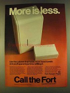 1980 Fort Howard Paper Ad - More is Less