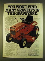 1980 Gravely 8183-T Lawn Tractor Ad - You Won't Find