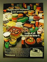 1980 Tupperware Storage Containers Ad - Freshness