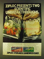 1980 Ziploc Storage and Sandwich Bags Ad - Scientific