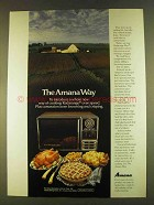 1980 Amana Radarange Plus Microwave Ad - The Way