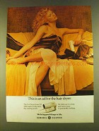 1980 General Electric Go Dryer Ad - Ad For Hair Dryer