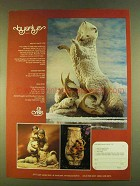 1980 Cybis Arctic White Fox, High Rise Porcelain Ad