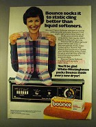 1980 Bounce Fabric Softener Ad - Socks it to Static