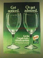 1980 Cascade Detergent Ad - Get Noticed or Admired