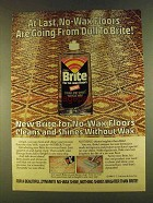 1980 Johnson Wax Brite for No-Wax Floors Ad