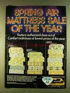 1980 Spring Air Mattress Ad - Sale of the Year
