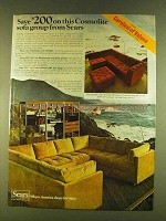 1980 Sears Cosmolite Sofa Group Ad