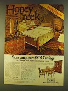 1980 Sears Honey Creek Bedroom and Dining Room Set Ad