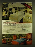 1980 Sears Homestead Canopy Bed Ad