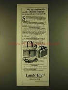 1980 Lands' End Duffle Luggage Ad - Captain's Wardrobe