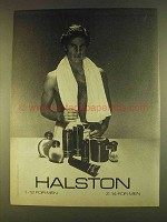 1980 Halston 1-12 for Men and Z-14 for Men Ad