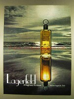 1980 Lagerfeld Cologne Ad - Fragrance for Men