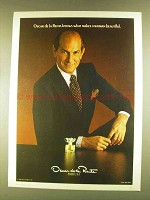 1980 Oscar de la Renta Perfume Ad - Makes Beautiful