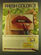 1980 Maybelline Fresh Color 3 Lipstick Ad