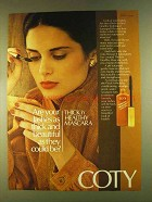 1980 Coty Thick 'n Healthy Mascara Ad - Your Lashes