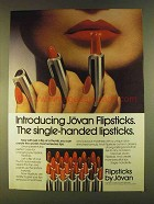 1980 Jovan Flipsticks Lipsticks Ad - Single-Handed