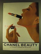 1980 Chanel Makeup Ad - Les Flamboyants Reds