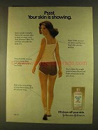 1980 Johnson's Baby Oil Ad - Psst. Your Skin is Showing