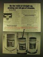 1980 Lederle Stresstabs 600 Vitamins Ad - On-the-Rocks