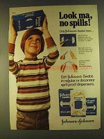 1980 Johnson's Swabs Ad - Look Ma, No Spills