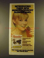 1980 Carnation Slender Diet Meal Bars Ad - Munchy