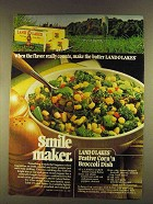 1980 Land O Lakes Butter Ad - Festive Corn 'n Broccoli