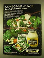 1980 Hellmann's Mayonnaise & Hidden Valley Ranch Ad