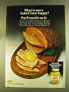 1980 French's Mustard Ad - See A Baked Ham Happy