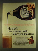 1980 Hershey's Syrup Ad - New Squeeze Bottle