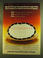 1980 The Potato Board Ad - Comes in Plain Brown Wrapper