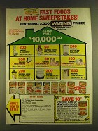 1980 Franco-American Raviolio Ad - At Home Sweepstakes