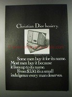 1980 Christian Dior Hosiery Ad - Some Men Buy For Name