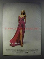 1980 Vanity Fair Lace-Edged Gown Ad