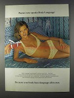 1980 Playtex Body Language Bra #124 and Panty #145 Ad