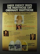 1980 L'eggs Sheer Energy Pantyhose Ad - Beats