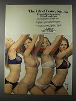 1980 Lily of France Glossies Bra and Panties Ad - Rainbow
