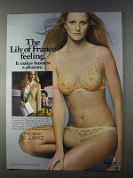 1980 Lily of France Paris Nights Bra and Panties Ad - A Pleasure