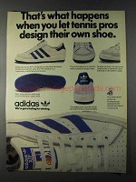 1980 Adidas ATP Outdoor Tennis Shoe Ad - Pros Design