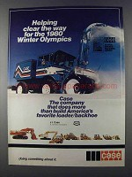 1980 Case Heavy Equipment Ad - For Winter Olympics