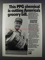1980 PPG Furloe Herbicide Ad - Cutting Grocery Bill