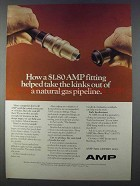 1980 AMP Connector Fittings Ad - Take Kinks Out