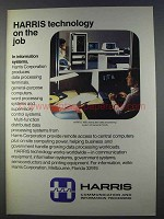 1980 Harris 1680 Distributed Data Processing System Ad