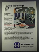 1980 Harris Computer System Ad - On the Job