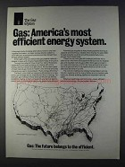 1980 AGA American Gas Association Ad - Efficient