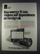 1980 AGA American Gas Association Ad - Foreign Oil