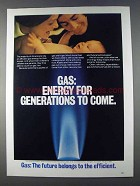 1980 AGA American Gas Association Ad - For Generations