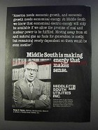 1980 Middle South Utilities Ad - Energy Makes Sense