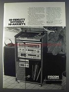 1980 Pioneer Syscom Hi-Fi Ad - Without Hi-Anxiety